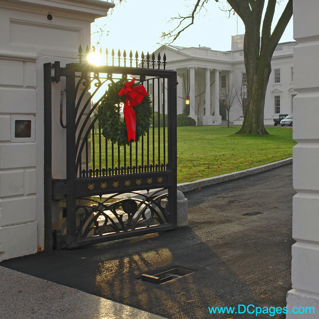 North Gate entrance to the White House