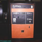 Washington, DC Metro Exitfare machine
