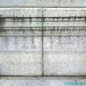 Masonic Engraving on Base of Albert Pike Statue