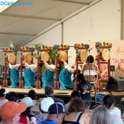 Asian drum line and dancers
