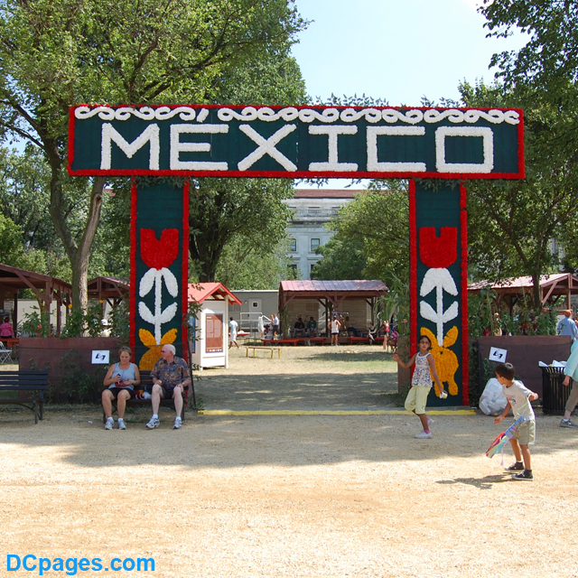 Entrance to the Mexico festivities