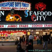 Captain White's Seafood City has a large variety of seafood daily.