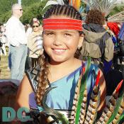 A cute young Native American girl.