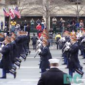 "Members of The U.S. Army Ceremonial Band from The U.S. Army Band ""Pershing's Own"" leading the 55th Presidential Inauguration parade. For more information on The U.S. Army Band, including upcoming concerts, please visit: www.usarmyband.com"
