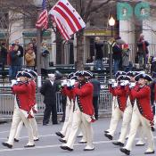"Members of the Fife and Drum Corps, United States Army 3rd Infantry Regimen, also known as ""The Old Guard."""