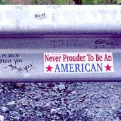 Never prouder to be an American bumper sticker.