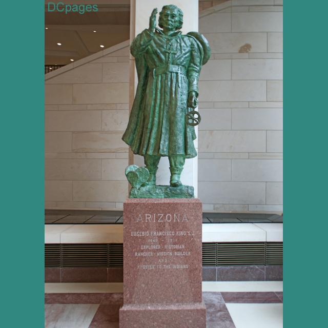 Emancipation Hall Eusebio Francisco Kino Bronze Statue