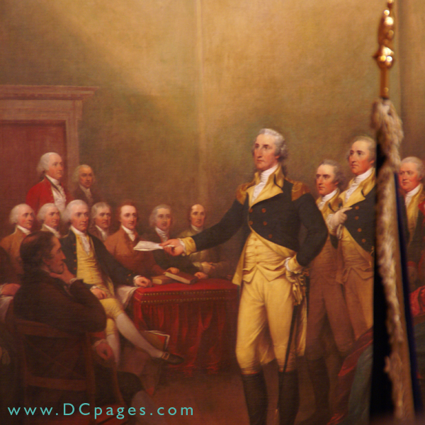 Painting Of General George Washington Holding The