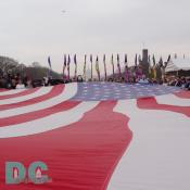 Smithsonian Kite Festival - Unfurling American Flag