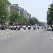 The very beginning of the 4th of July parade in the District of Columbia.