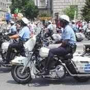 These police issued Harley Davidsons were loud!